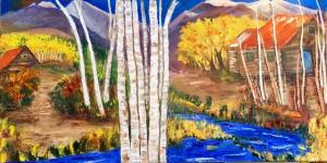 Painting Aspen River Houses_2802