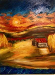 Painting sun house_4084