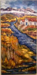 Painting river houses_5550