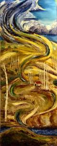 Painting Vert. house barren_5970