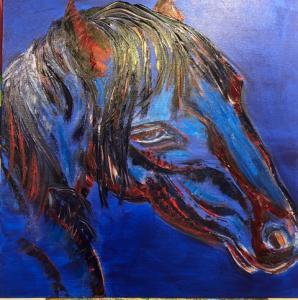 Painting horsehead blu_6020